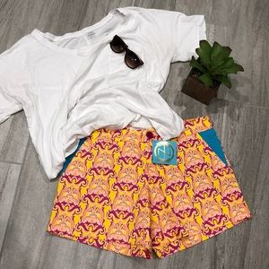 Tracy Negoshian Calypso Yellow shorts